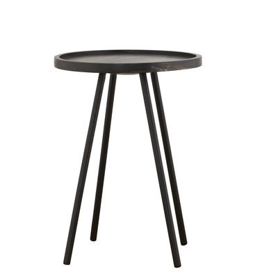 Table basse Juco / Ø 40 x H 55 cm - House Doctor noir en bois