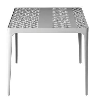 Table carrée Sunrise / 80 x 80 cm - Driade blanc en métal
