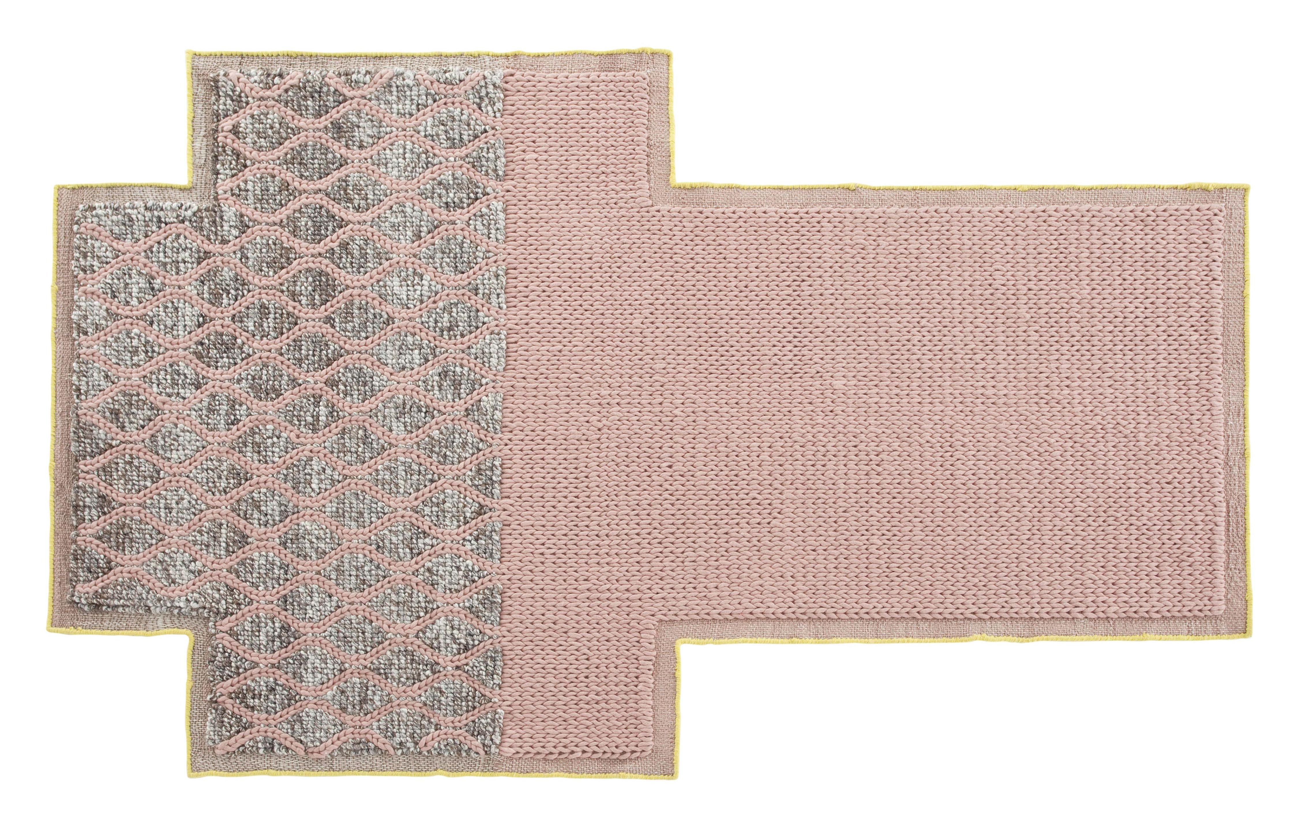Dekoration - Teppiche - Mangas Space Rhombus Teppich / 250 x 160 cm - Gan - Rosa - Laine vierge