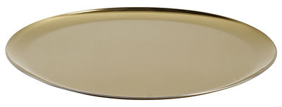 Tableware - Trays - Tray - Ø 28 cm - Steel by Hay - Gold - Stainless steel