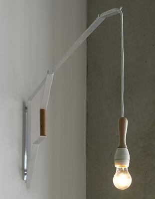 Studio Simple Wandleuchte mit Stromkabel / L 120 cm - Serax - Weiß,Holz natur