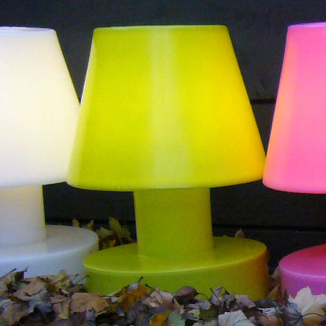 Lighting - Table Lamps - Wireless lamp - Portable lamp - wireless and rechargeable - H 40 cm by Bloom! - Green - Polythene