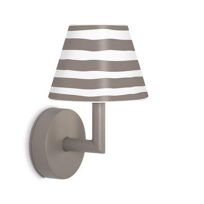 Applique d'extérieur Add the wally LED / Rechargeable - Variateur sensitif - H 22 cm - Fatboy blanc,taupe en matière plastique