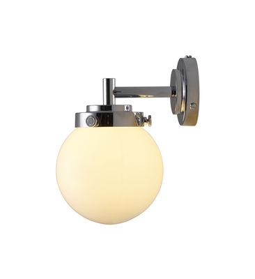 Applique Mini Globe / Ø 12 cm - Verre soufflé - Original BTC chromé,opalin en métal