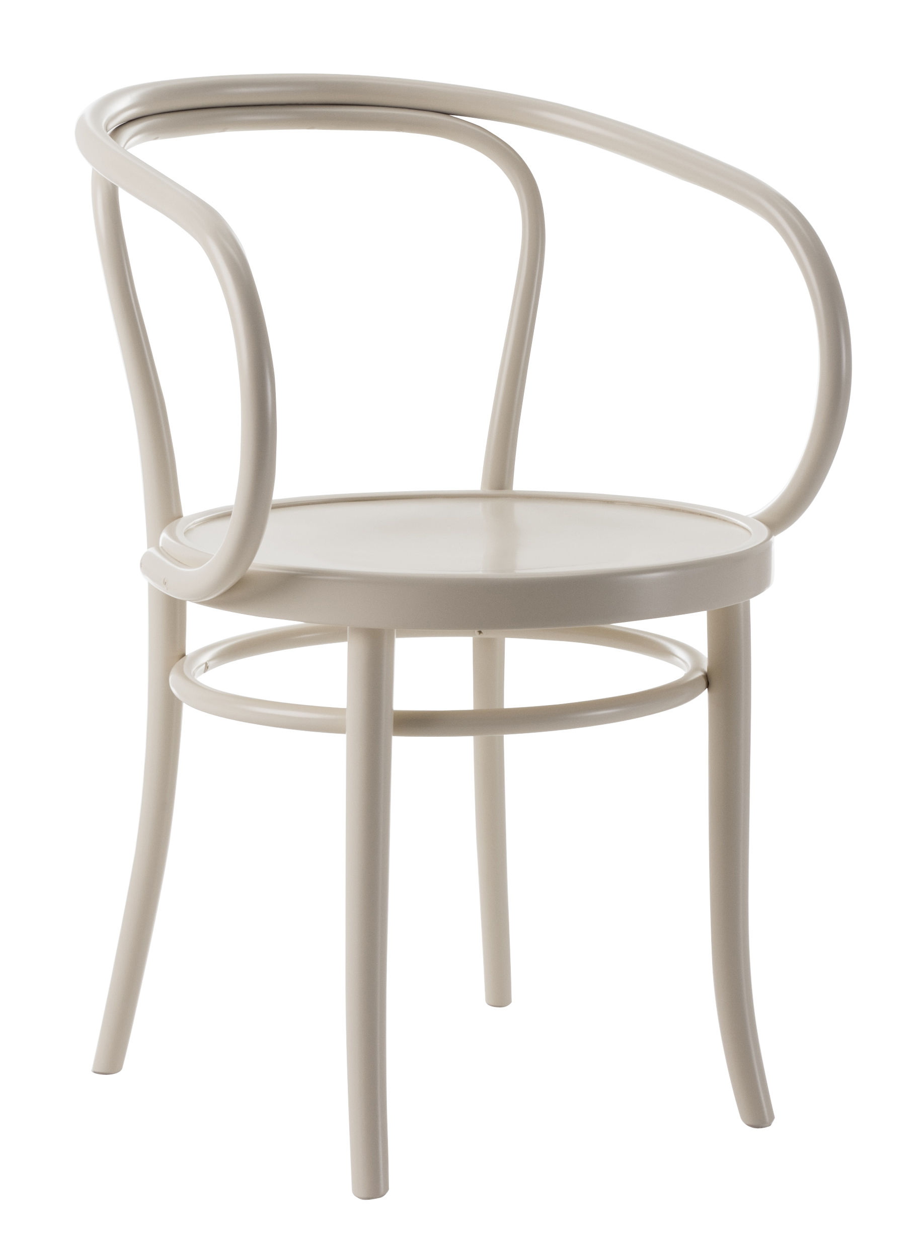 Furniture - Chairs - Wiener Stuhl Armchair - / Full seat - 1904 reissue by Wiener GTV Design - White - Beechwood plywood, Curved solid beechwood