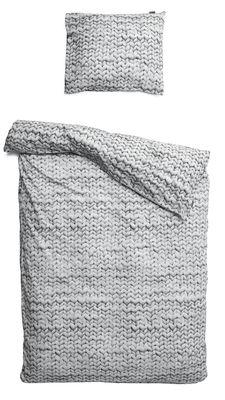 Interni - Tessili - Biancheria da letto 2 persone Twirre - / 2 persone - 240 x 220 cm di Snurk - Grigio - Percalle di cotone