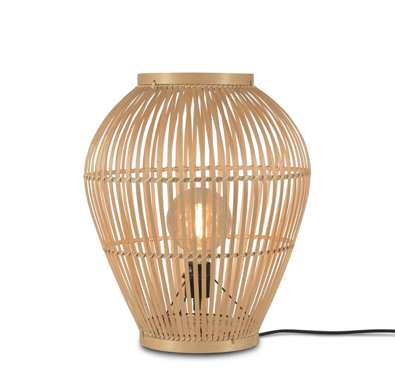Leuchten - Tischleuchten - Tuvalu Small Bodenleuchte / Bambus - H 50 cm - GOOD&MOJO - H 50 cm / naturfarben - Bambus
