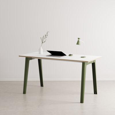 Bureau New Modern / 150 x 70 cm - Stratifié - TIPTOE vert en métal/bois
