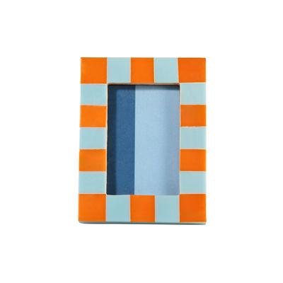 Déco - Objets déco et cadres-photos - Cadre-photo Check Rectangle / 13,5 x 18,5 cm - Polyrésine - & klevering - Orange - MDF, Polyrésine