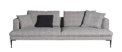 Mobilier - Canapés - Canapé droit Lirico / 3 places - L 240 cm - Driade - Carreaux noirs & blancs - Acier, Aluminium, Tissu