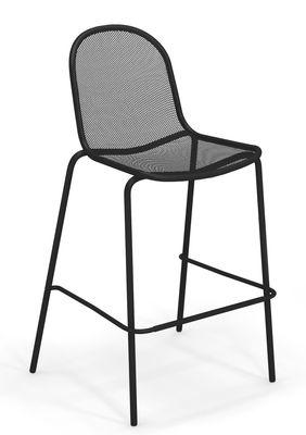 Chaise de bar Nova Métal H 72 cm Emu noir en métal