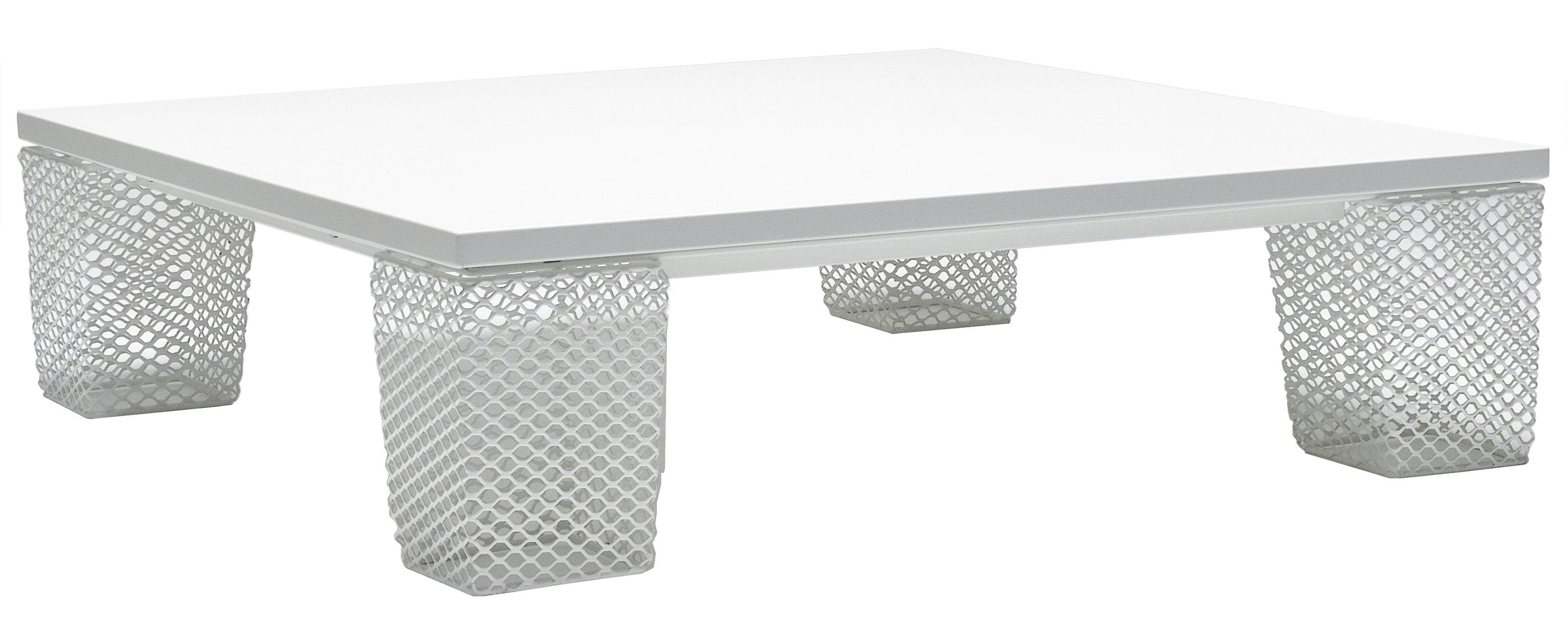 Möbel - Couchtische - Ivy Couchtisch quadratisch - Emu - Weiß - Stahl