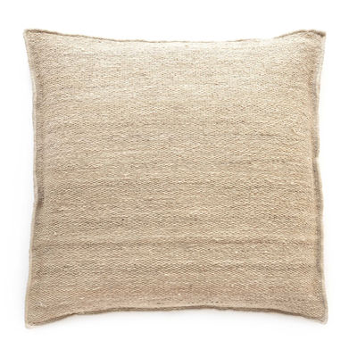 Decoration - Cushions & Poufs - Well Being Heavy Cushion - / 80 x 80 cm - Eco-designed by Nanimarquina - Mazari / Beige - Afghan wool, Cork, Cotton