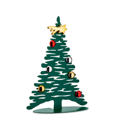 Decoration - Home Accessories - Bark Tree Decoration - / Christmas tree H 30 cm + 3 coloured magnets by Alessi - Green - Epoxy steel