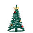 Bark Tree Decoration - / Christmas tree H 30 cm + 3 coloured magnets by Alessi
