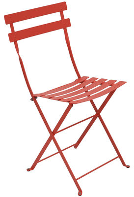 Furniture - Chairs - Bistro Folding chair - Metal by Fermob - Nasturtium - Lacquered steel