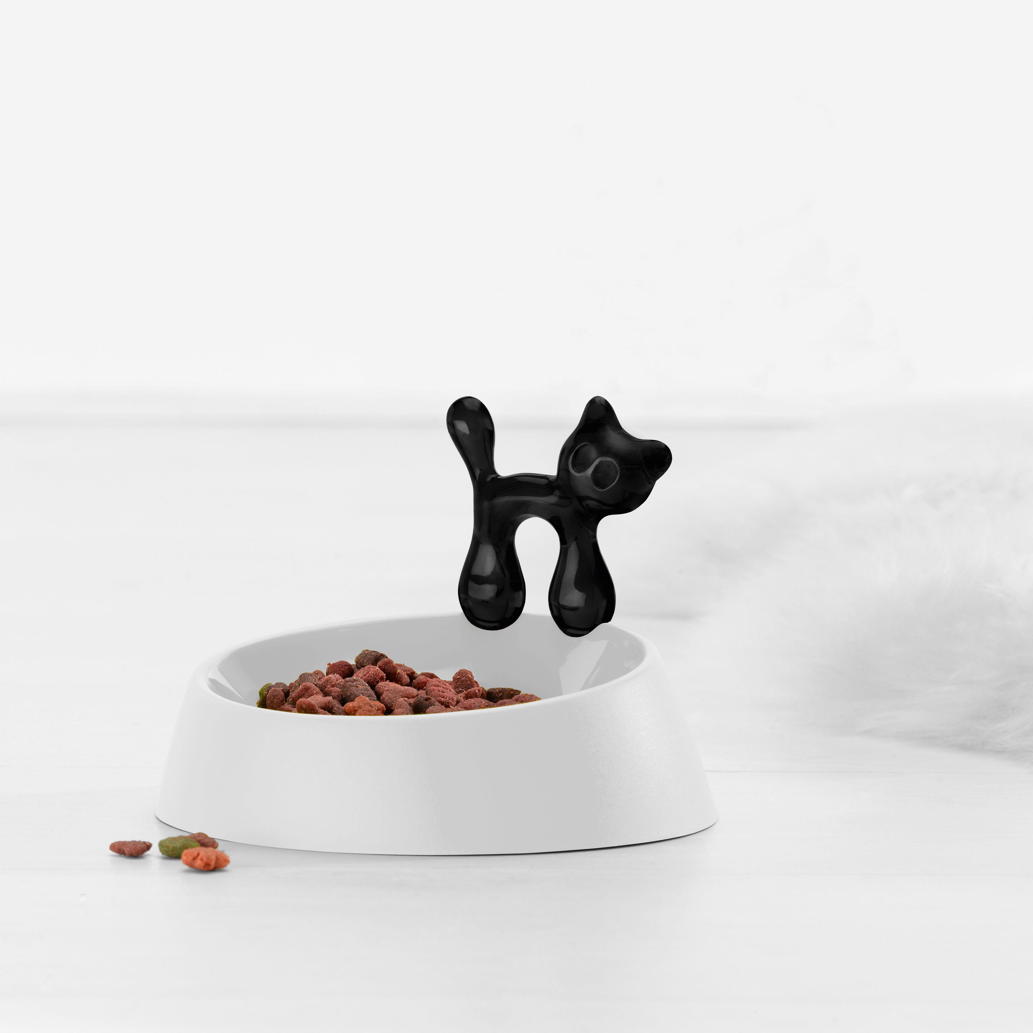 gamelle miaou pour chat blanc chat noir koziol made. Black Bedroom Furniture Sets. Home Design Ideas