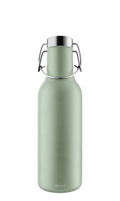 Arts de la table - Carafes et décanteurs - Gourde isotherme Cool / 0,7 L - Eva Solo - Vert eucalyptus - Acier inoxydable, Silicone