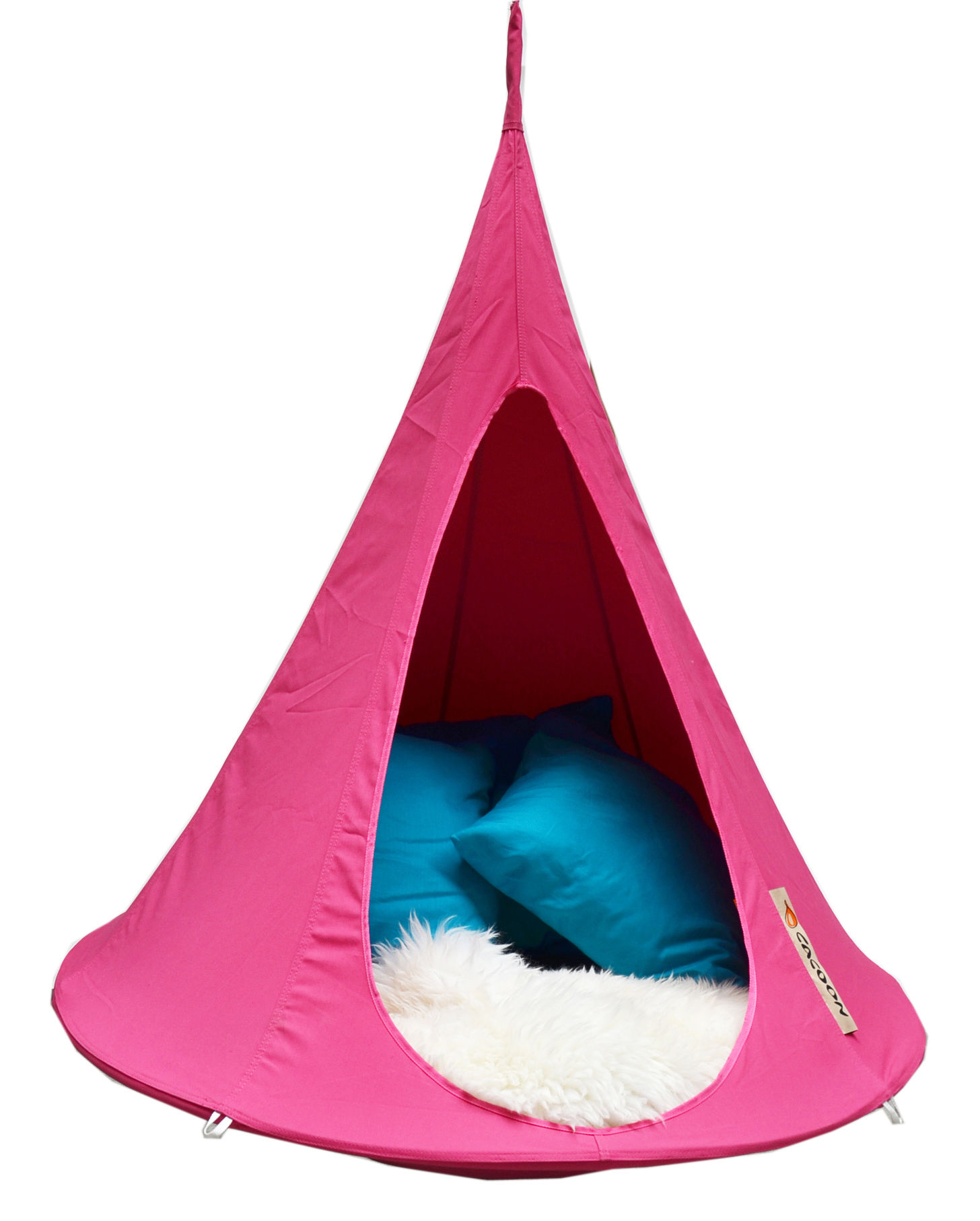 Möbel - Möbel für Kinder - Bebo Hängesessel / Ø 120 cm - Kindergröße - Cacoon - Pink - Leinen