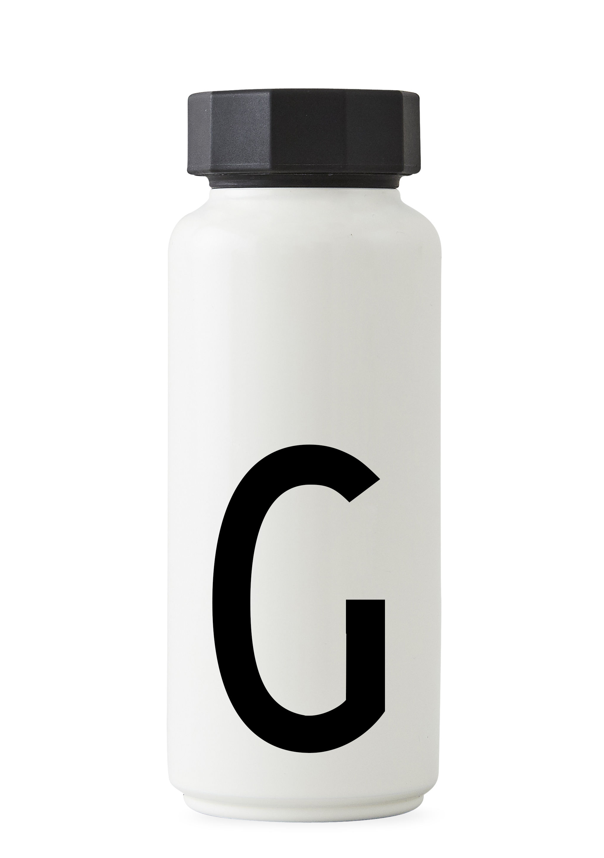 Tableware - Water Carafes & Wine Decanters - Arne Jacobsen Insulated bottle - / 500 ml - Letter G by Design Letters - White / Letter G - Polypropylene, Stainless steel