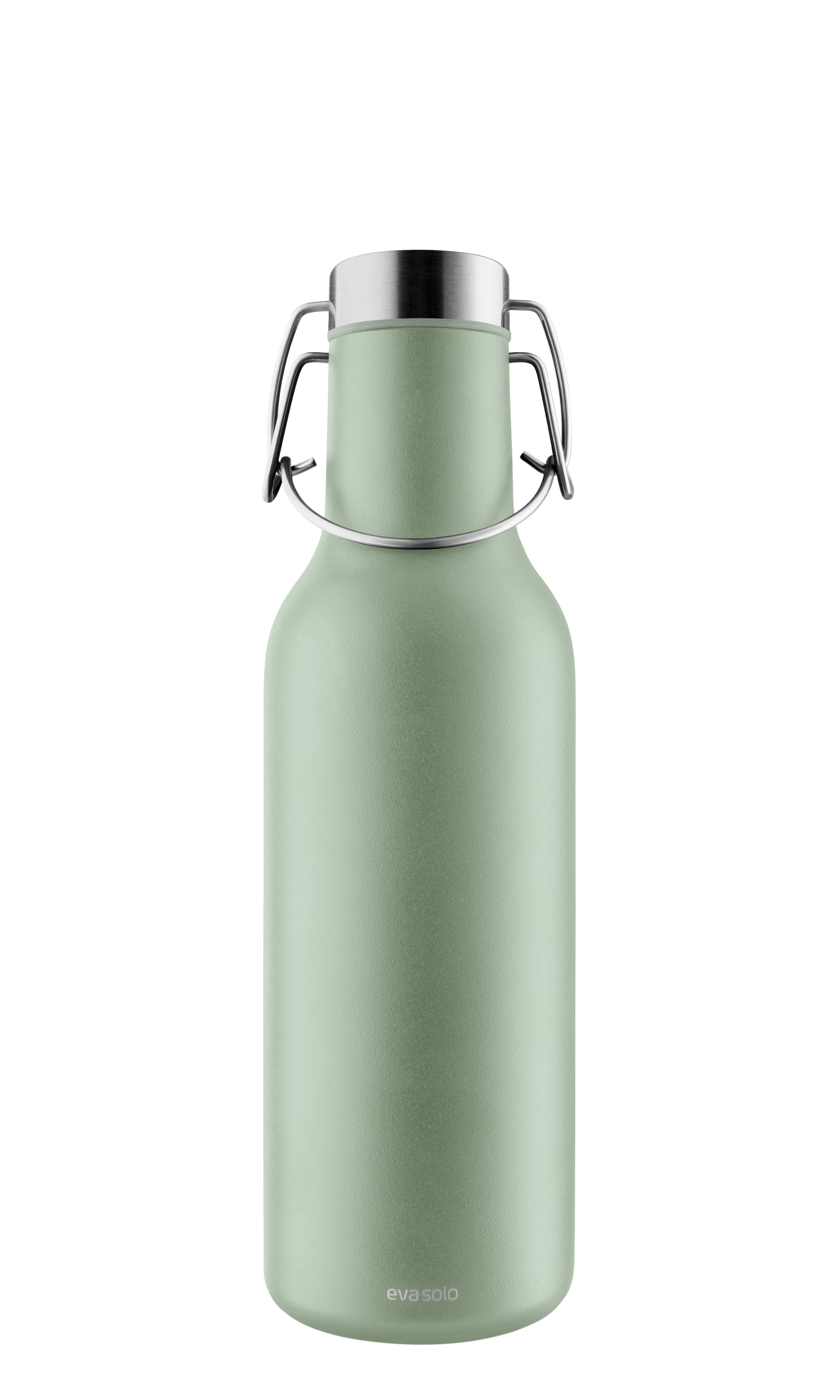 Tableware - Water Carafes & Wine Decanters - Cool Insulated bottle - / 0.7 L by Eva Solo - Eucalyptus green - Silicone, Stainless steel