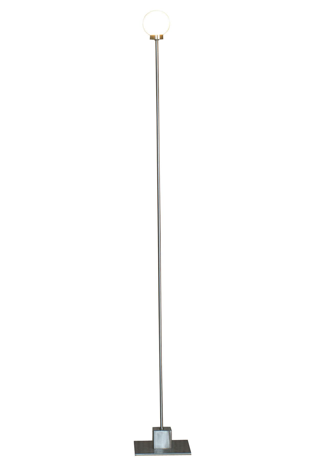 Illuminazione - Lampade da terra - Lampada a stelo Snowball di Northern  - Corpo metallo - metallo satinato, Vetro