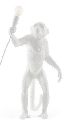 Illuminazione - Lampade da tavolo - Lampada da tavolo Monkey Standing - / Outdoor - H 54 cm di Seletti - Bianco - Resina