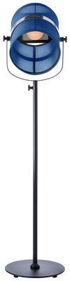 Luminaire - Lampadaires - Lampadaire solaire La Lampe Paris LED / Sans fil - Dock USB - Maiori - Bleu marine / Pied noir - Aluminium peint, Tissu