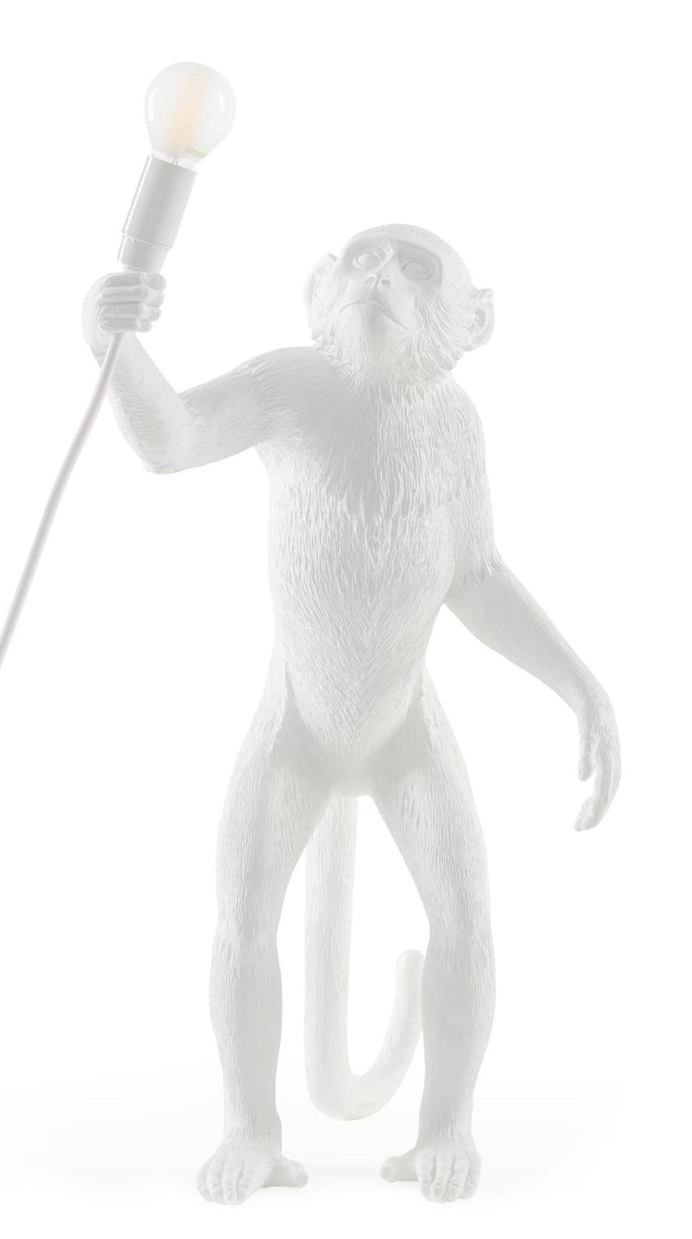 Luminaire - Lampes de table - Lampe de table Monkey Standing / Outdoor - H 54 cm - Seletti - Blanc - Résine