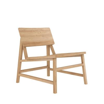 Furniture - Armchairs - N2 Low armchair - / Solid oak by Ethnicraft - Oak - Solid oak