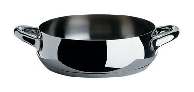 Kitchenware - Pots & Pans - Mami Low casserole - Ø 24 cm by Alessi - Ø 24 cm - Polished - Stainless steel