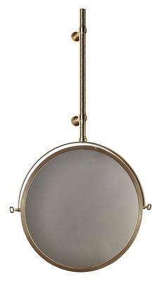 Déco - Miroirs - Miroir mural MbE / Orientable - Ø 44 cm - DCW éditions - Laiton - Laiton poli, Verre