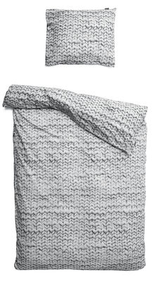 Parure de lit 2 personnes Twirre / 240 x 220 cm - Snurk gris en tissu