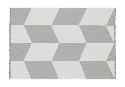 Decoration - Bedding & Bath Towels - Sway Plaid - / 130 x 180 cm by Muuto - Black & white - Merinos wool