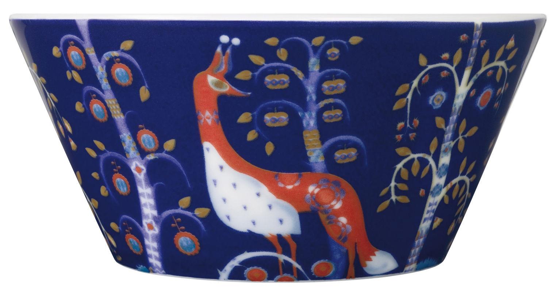 Tischkultur - Salatschüsseln und Schalen - Taika Schale - Iittala - Blauer Hintergrund - Keramik