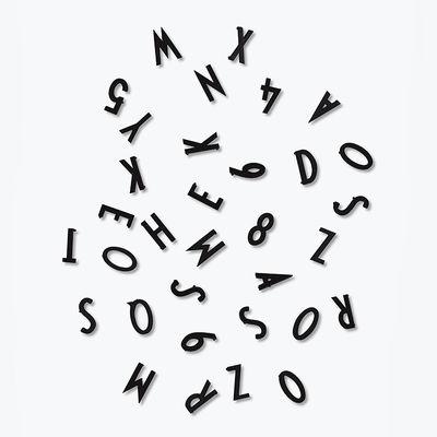 Dekoration - Memos, Magnettafel und Kalender - Chiffres & Lettres Small Set von Arne Jacobsen / für Memo-Board - Design Letters - Schwarz - Plastik
