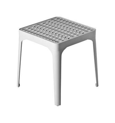 Arredamento - Tavolini  - Sgabello Sunrise - H 45 cm di Driade - Bianco - Alluminio laccato