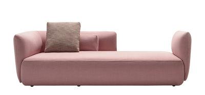 Möbel - Sofas - Cosy Paolina Sofa / 3-Sitzer - L 230 cm - MDF Italia - Sofa / rosa (matt) - Furnier, Massivholz, Polyurethan-Schaum, Wolle