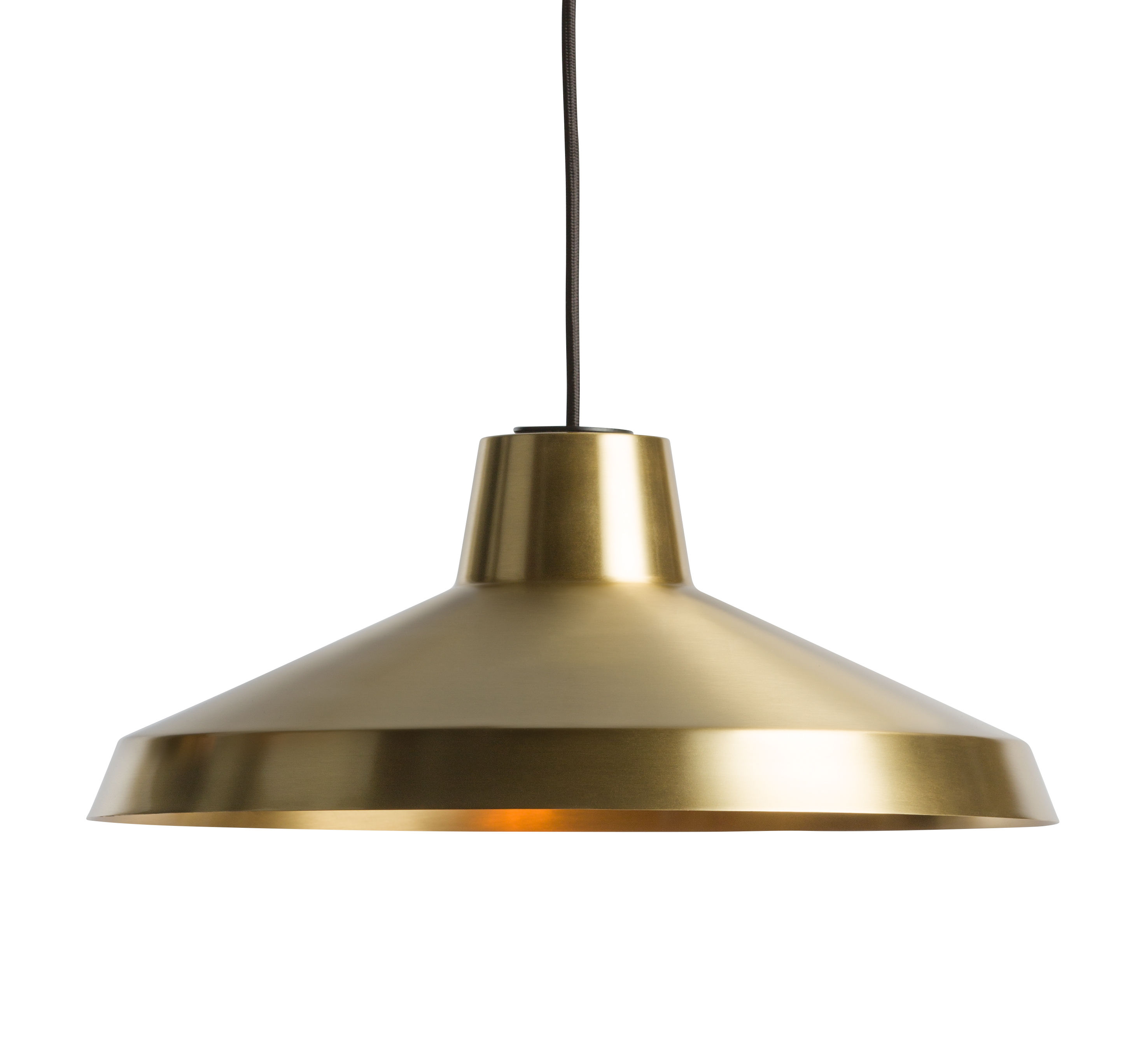 Illuminazione - Lampadari - Sospensione Evergreen Large / Ø 40 cm - Ottone - Northern Lighting - Ottone spazzolato - Ottone spazzolato