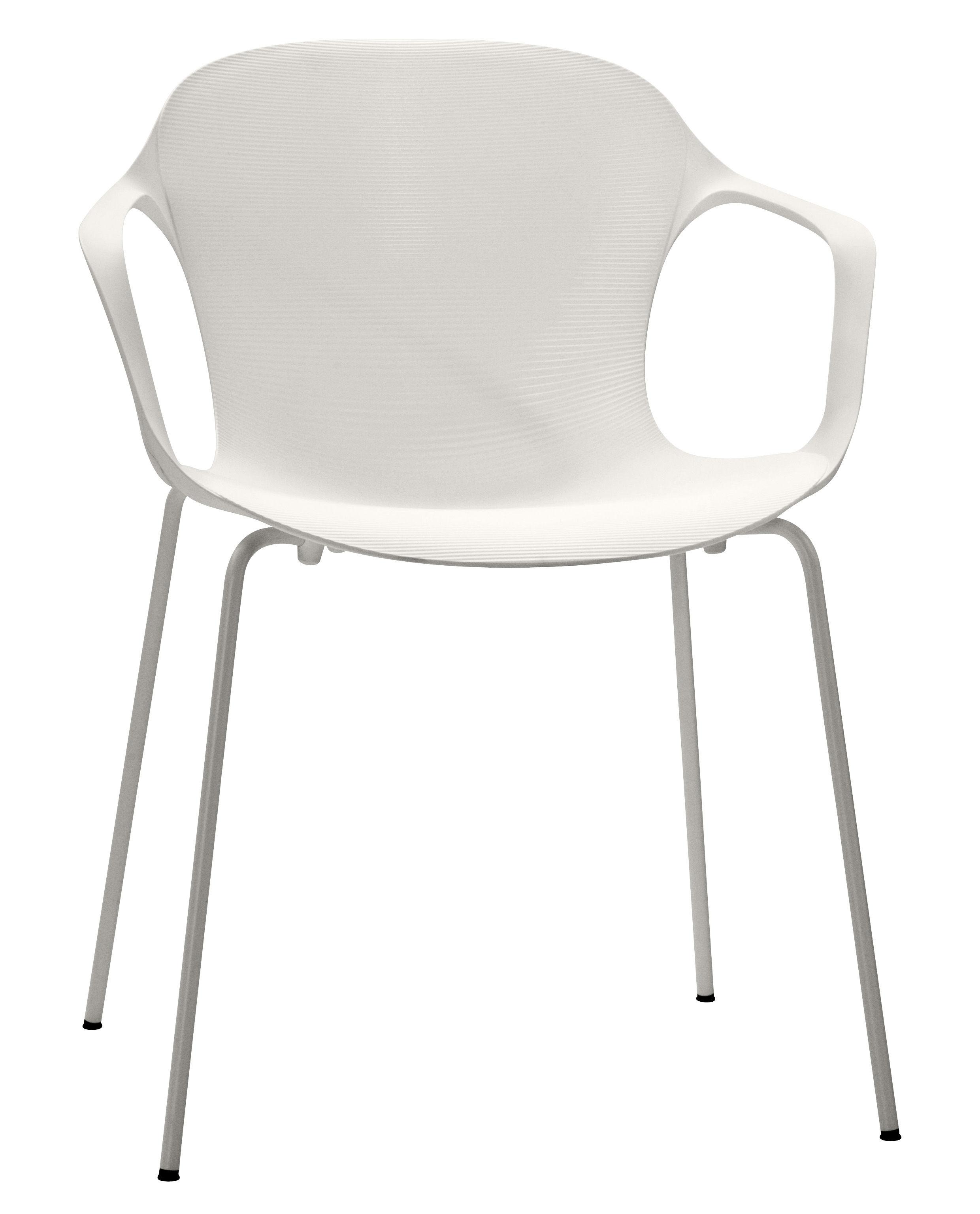 Möbel - Stühle  - Nap Stapelbarer Sessel - Fritz Hansen - Weiß - lackierter Stahl, Polyamid