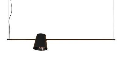 Suspension Cupido LED / L 149 cm - 1 abat-jour - Karman noir,gris charbon en métal