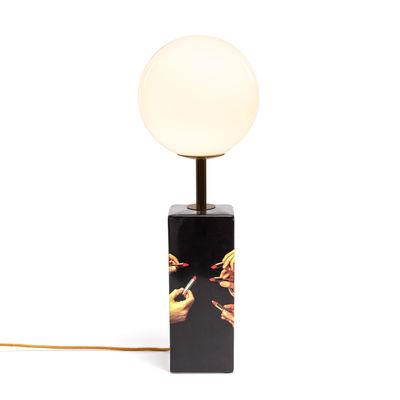 Lighting - Table Lamps - Toiletpaper - Black Lipsticks Table lamp - / China & glass - H 70 cm by Seletti - Black Lipsticks - China, Glass, Metal