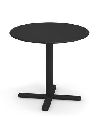 Table pliante Darwin Ø 60 cm Emu noir en métal