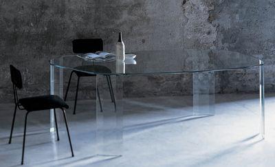 Table rectangulaire Kooh-I-Noor / 206 x 123 cm - Glas Italia transparent en verre
