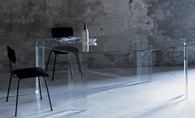 Table rectangulaire Kooh-I-Noor / 206 x 123 cm - Glas Italia transparent en verre