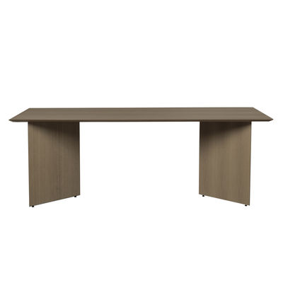 Furniture - Dining Tables - Tray - rectangular / For Mingle Large trestles - 210 x 90 cm by Ferm Living - Dark wood - MDF veneer oak