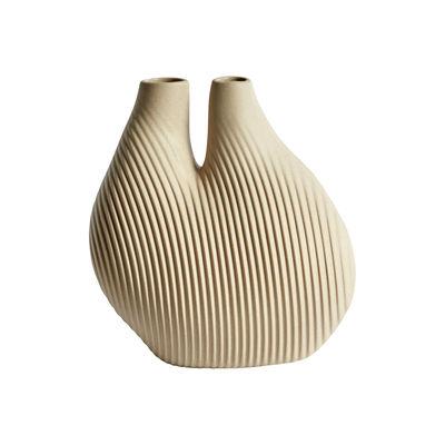 Vase W&S - Chamber / Porcelaine - Hay blanc/beige en céramique