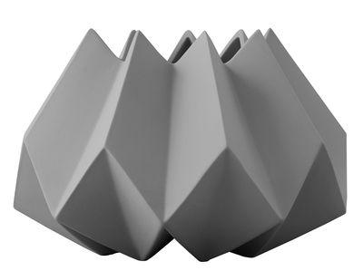 Vaso Folded / Argilla - Ø 22 x H 15 cm - Menu - Grigio scuro - Ceramica