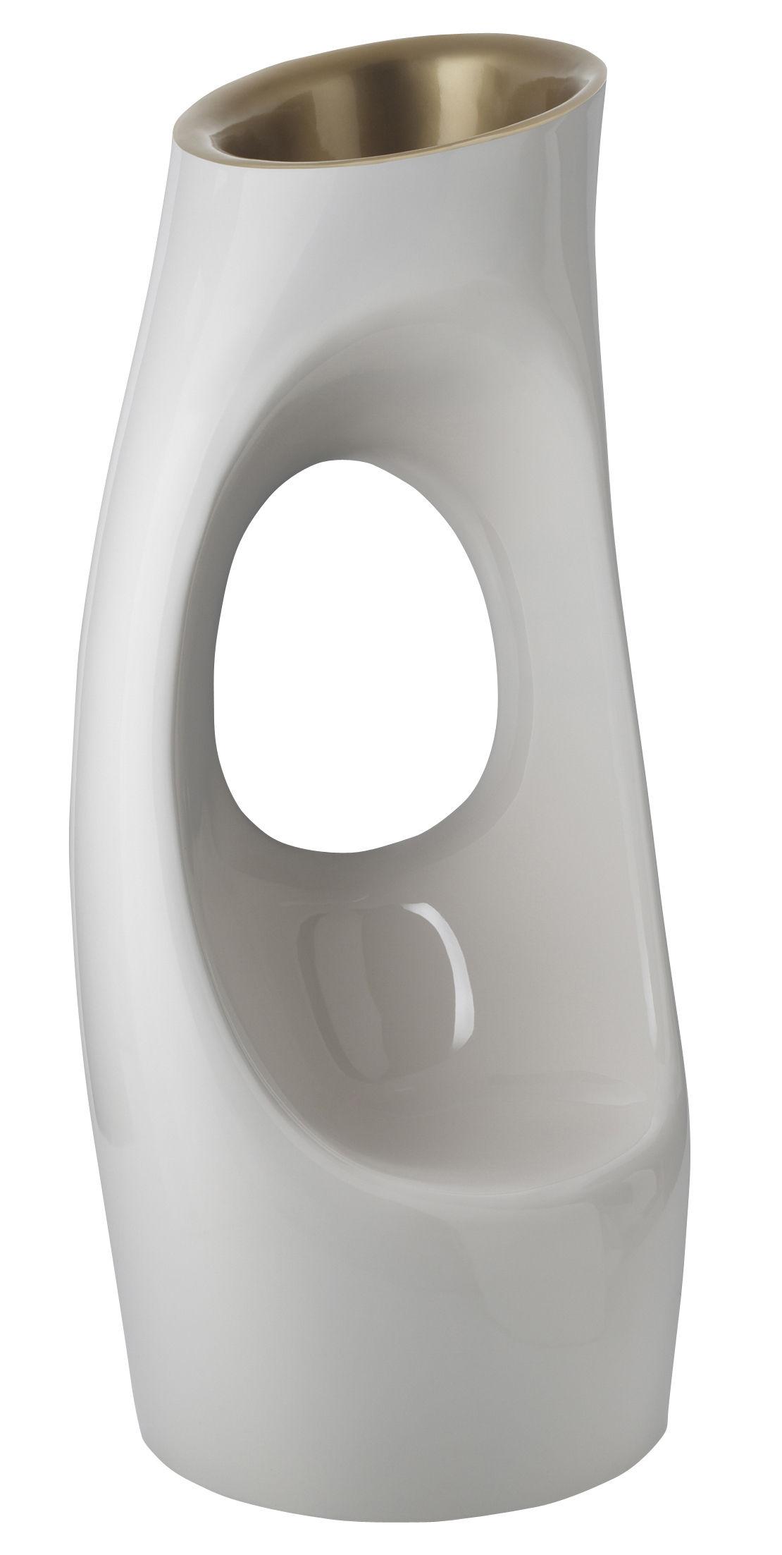Arredamento - Mobili d'eccezione - Vaso per fiori Holly All - Poltrona - Versione bicolore di Serralunga - Bianco laccato/ interno o laccato - Polietilene laccato
