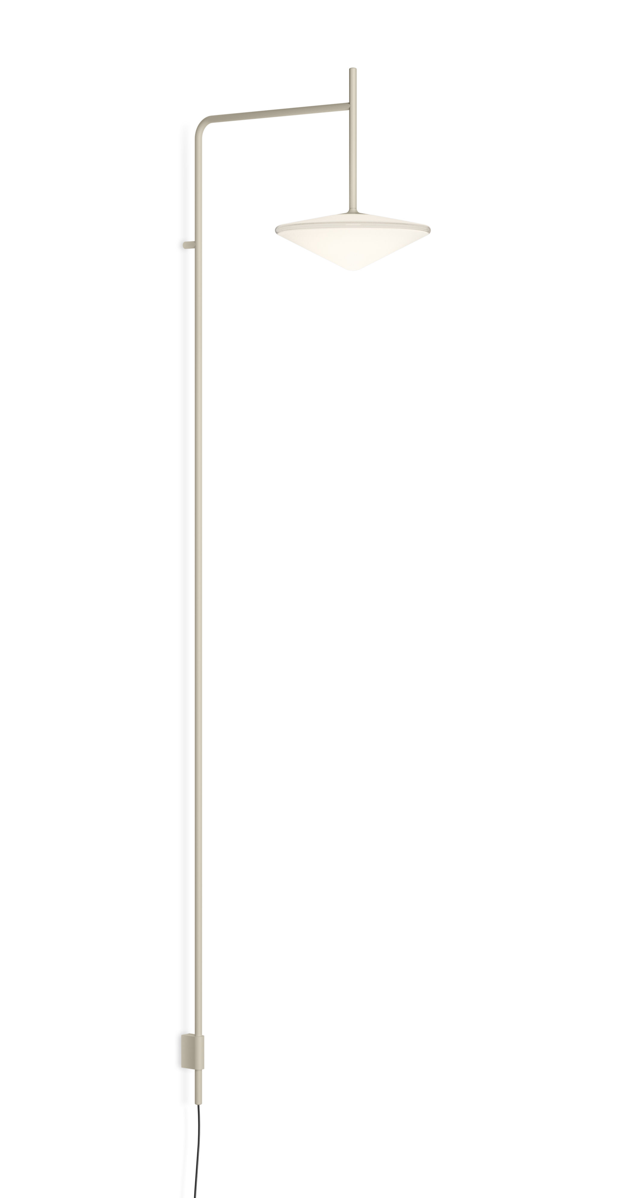Lighting - Wall Lights - Tempo Triangle Wall light - / LED - Fixed arm L 40 cm by Vibia - Beige - Blown glass, Lacquered steel